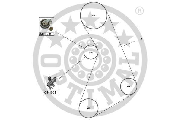 Kit de distribution - OPTIMAL - SK-1373