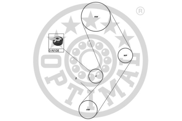 Kit de distribution - OPTIMAL - SK-1380