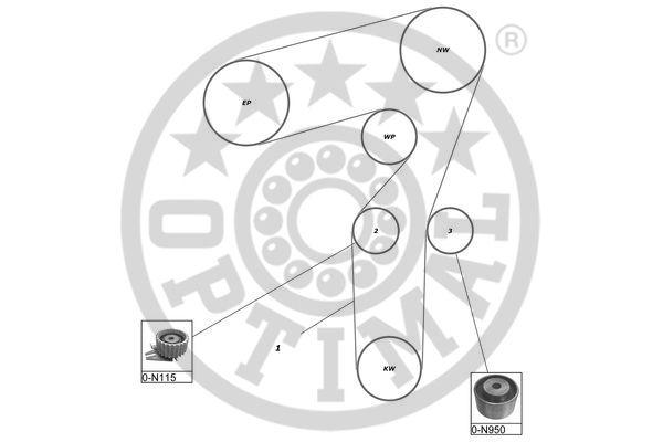 Kit de distribution - OPTIMAL - SK-1587