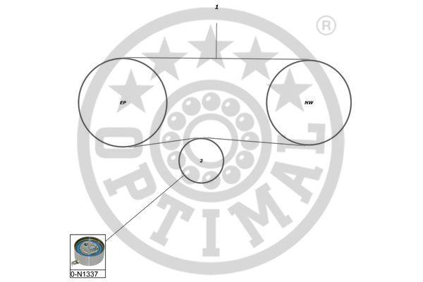Kit de distribution - OPTIMAL - SK-1597