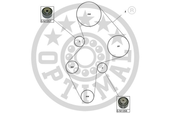 Kit de distribution - OPTIMAL - SK-1616