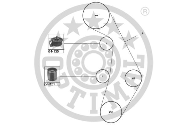 Kit de distribution - OPTIMAL - SK-1641