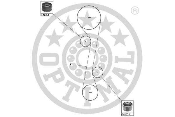 Kit de distribution - OPTIMAL - SK-1651
