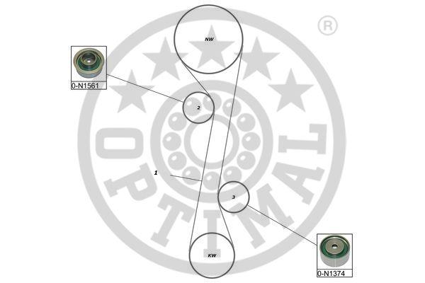 Poulie-tendeur, courroie crantée - OPTIMAL - SK-1656