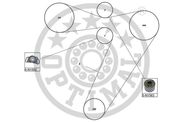 Kit de distribution - OPTIMAL - SK-1658
