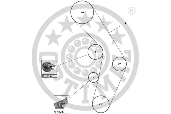 Kit de distribution - OPTIMAL - SK-1660