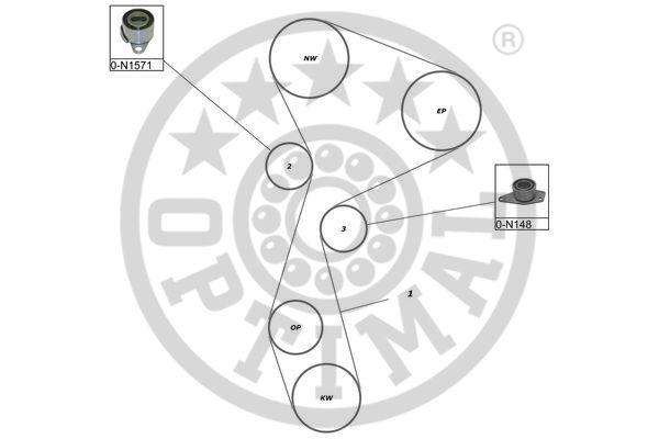Kit de distribution - OPTIMAL - SK-1663