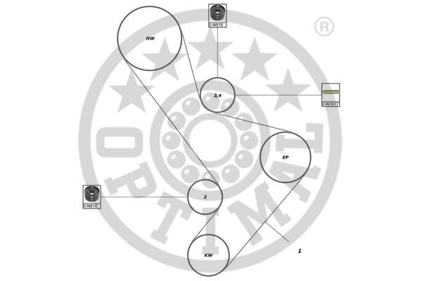 Kit de distribution - OPTIMAL - SK-1679