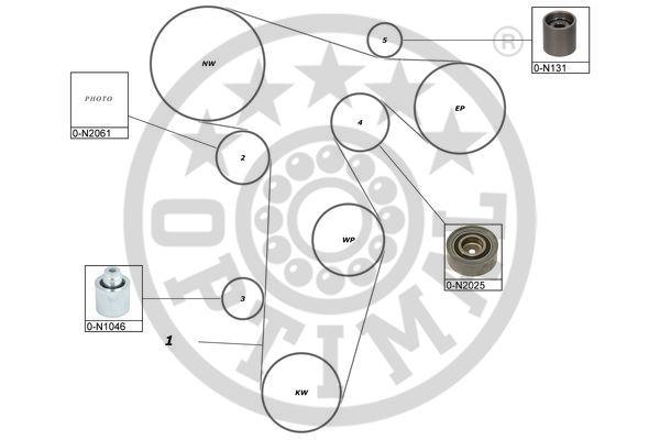 Kit de distribution - OPTIMAL - SK-1695