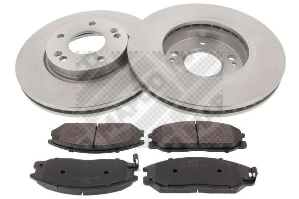 kit de freins frein disques hyundai santa f 2 125cv 2003 2006 amapiece. Black Bedroom Furniture Sets. Home Design Ideas