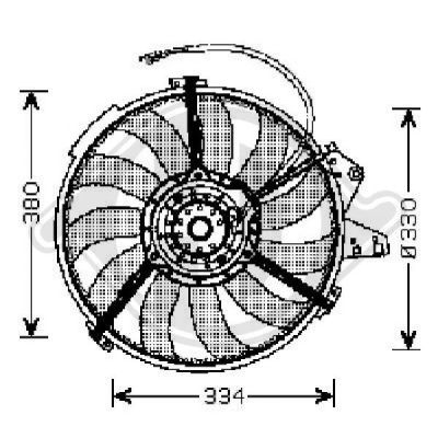 Ventilateur, refroidissement du moteur - Diederichs Germany - 1005001