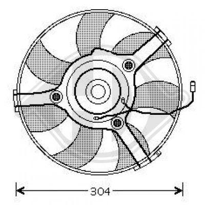 Ventilateur, refroidissement du moteur - Diederichs Germany - 1016101