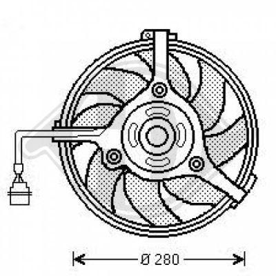 Ventilateur, refroidissement du moteur - HDK-Germany - 77HDK1025001