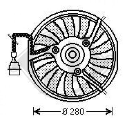 Ventilateur, refroidissement du moteur - Diederichs Germany - 1025101