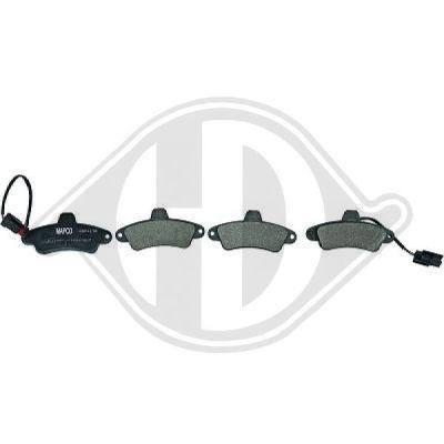 Kit de plaquettes de frein, frein à disque - HDK-Germany - 77HDK1142520