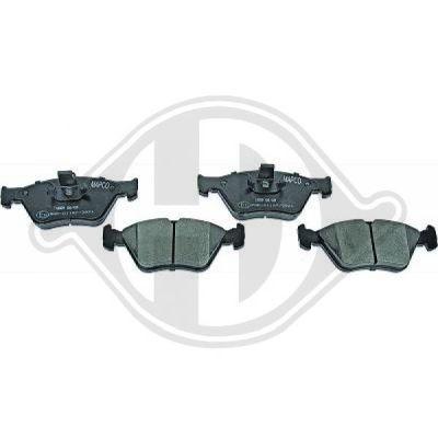 Kit de plaquettes de frein, frein à disque - HDK-Germany - 77HDK1184420