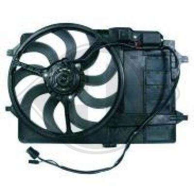 Ventilateur, refroidissement du moteur - Diederichs Germany - 1205101