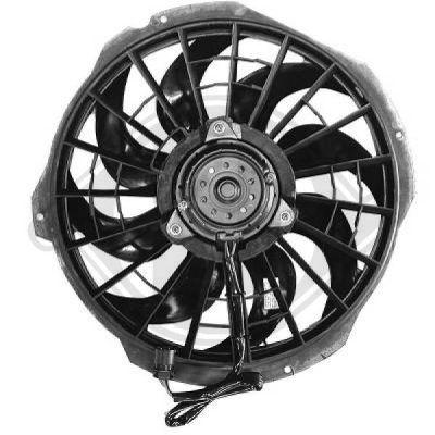 Ventilateur, condenseur de climatisation - Diederichs Germany - 1213001