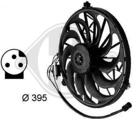 Ventilateur, condenseur de climatisation - HDK-Germany - 77HDK1213401