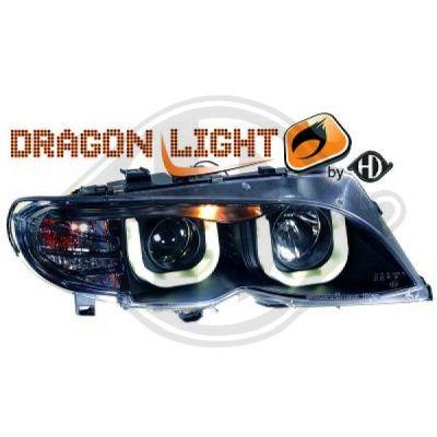 Bloc-optique, projecteurs principaux - HDK-Germany - 77HDK1215585