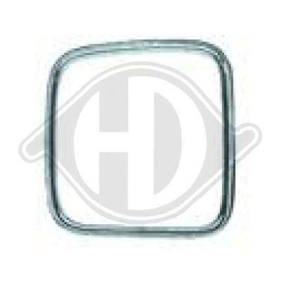 Baguette et bande protectrice, grille de radiateur - HDK-Germany - 77HDK1222042