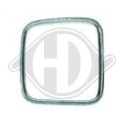 Baguette et bande protectrice, grille de radiateur - Diederichs Germany - 1222043