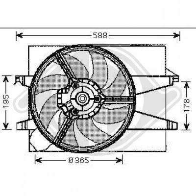 Ventilateur, refroidissement du moteur - Diederichs Germany - 1404001