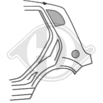 Panneau latéral - Diederichs Germany - 1404037