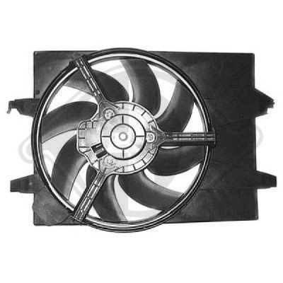 Ventilateur, refroidissement du moteur - Diederichs Germany - 1404102