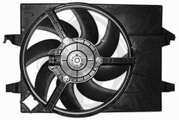 Ventilateur, refroidissement du moteur - Diederichs Germany - 1404103