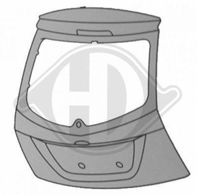 Couvercle de coffre à bagages/de compartiment de chargement - Diederichs Germany - 1404128