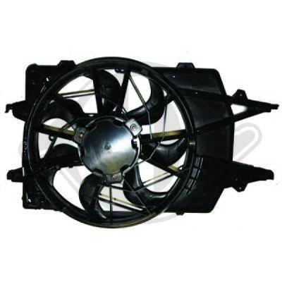 Ventilateur, condenseur de climatisation - Diederichs Germany - 1415102