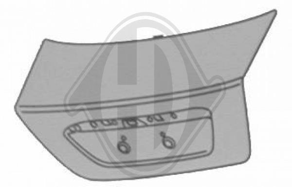 Couvercle de coffre à bagages/de compartiment de chargement - HDK-Germany - 77HDK1427029