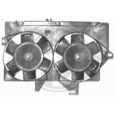 Ventilateur, condenseur de climatisation - Diederichs Germany - 1454001