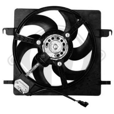 Ventilateur, refroidissement du moteur - Diederichs Germany - 1460001