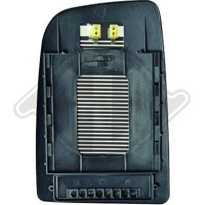 Verre de rétroviseur, rétroviseur extérieur - HDK-Germany - 77HDK1663027