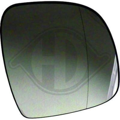 Verre de rétroviseur, rétroviseur extérieur - HDK-Germany - 77HDK1666027