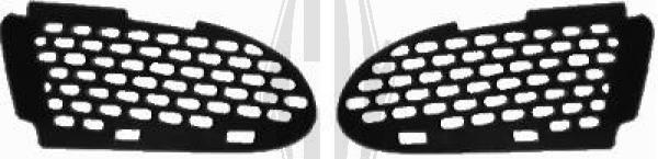 Grille de ventilation, pare-chocs - Diederichs Germany - 1670062