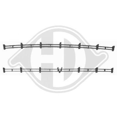 Grille de ventilation, pare-chocs - HDK-Germany - 77HDK1805145