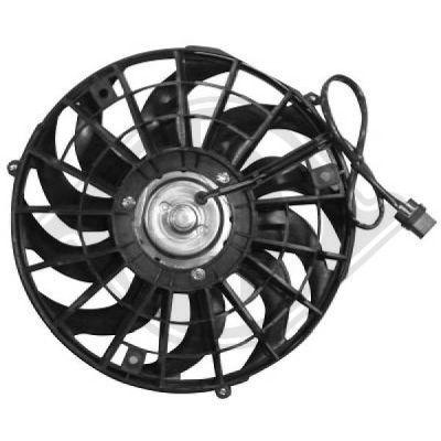 Ventilateur, condenseur de climatisation - Diederichs Germany - 1812001