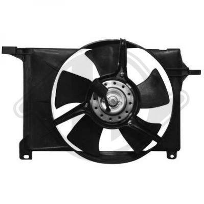 Ventilateur, condenseur de climatisation - Diederichs Germany - 1812101