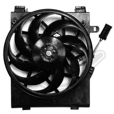 Ventilateur, condenseur de climatisation - HDK-Germany - 77HDK1813001