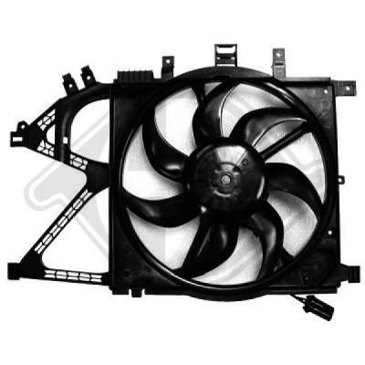 Ventilateur, refroidissement du moteur - Diederichs Germany - 1813101