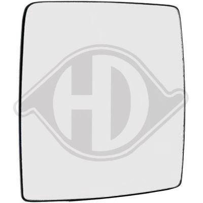 Verre de rétroviseur, rétroviseur extérieur - HDK-Germany - 77HDK1813327