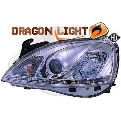 Bloc-optique, projecteurs principaux - HDK-Germany - 77HDK1813685