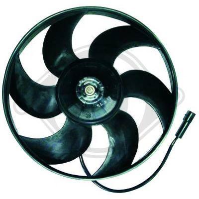 Ventilateur, condenseur de climatisation - Diederichs Germany - 1844001