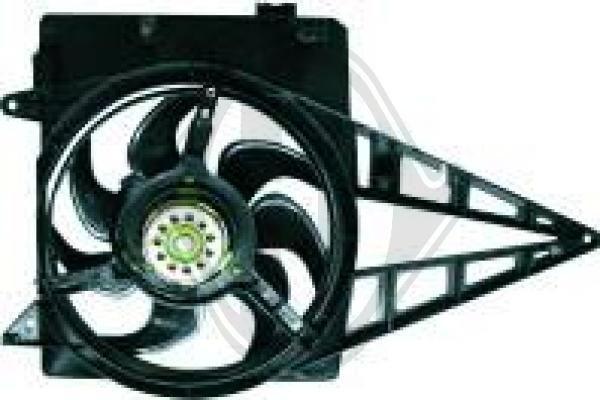 Ventilateur, refroidissement du moteur - Diederichs Germany - 1844101