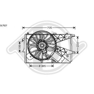 Ventilateur, refroidissement du moteur - Diederichs Germany - 1875101