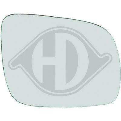Verre de rétroviseur, rétroviseur extérieur - HDK-Germany - 77HDK2204026