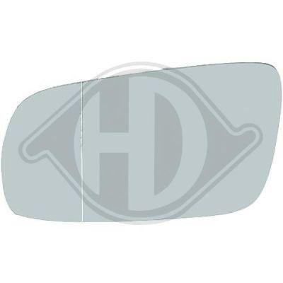 Verre de rétroviseur, rétroviseur extérieur - HDK-Germany - 77HDK2204027